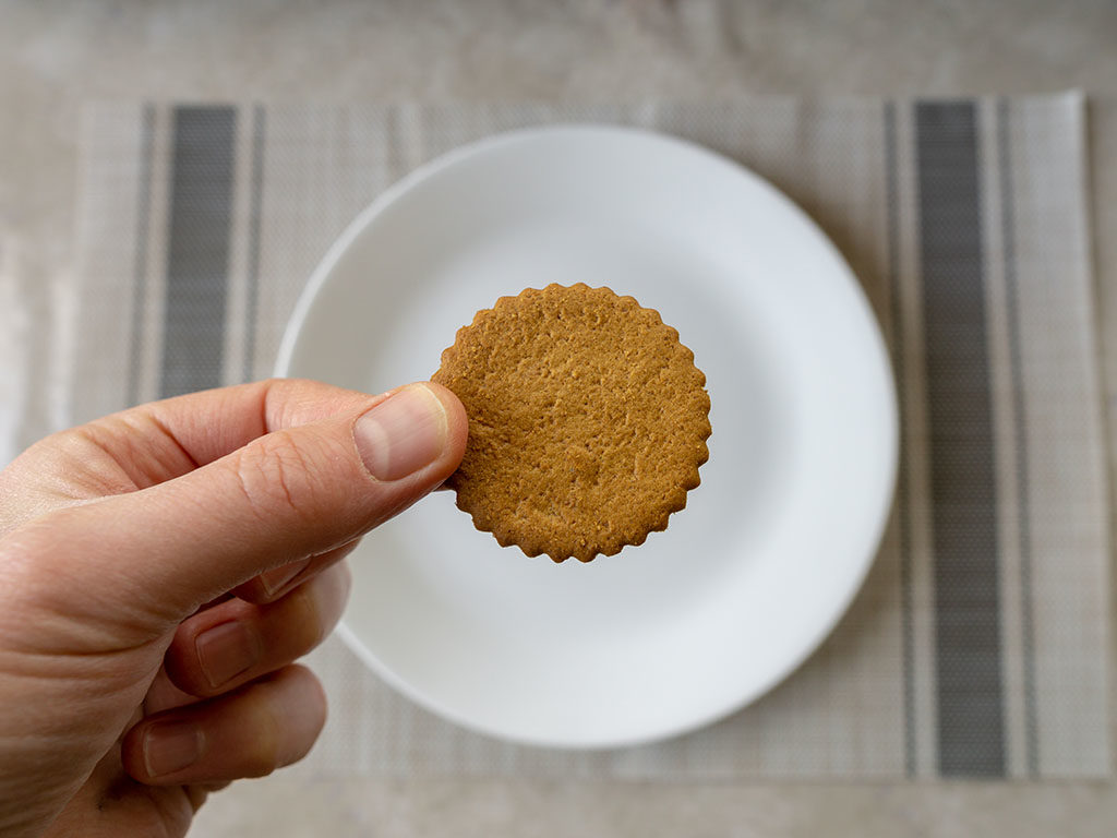 Trader Joe's Triple Ginger Cookie Thins - close up