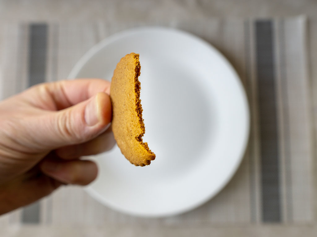 Trader Joe's Triple Ginger Cookie Thins - thin edge