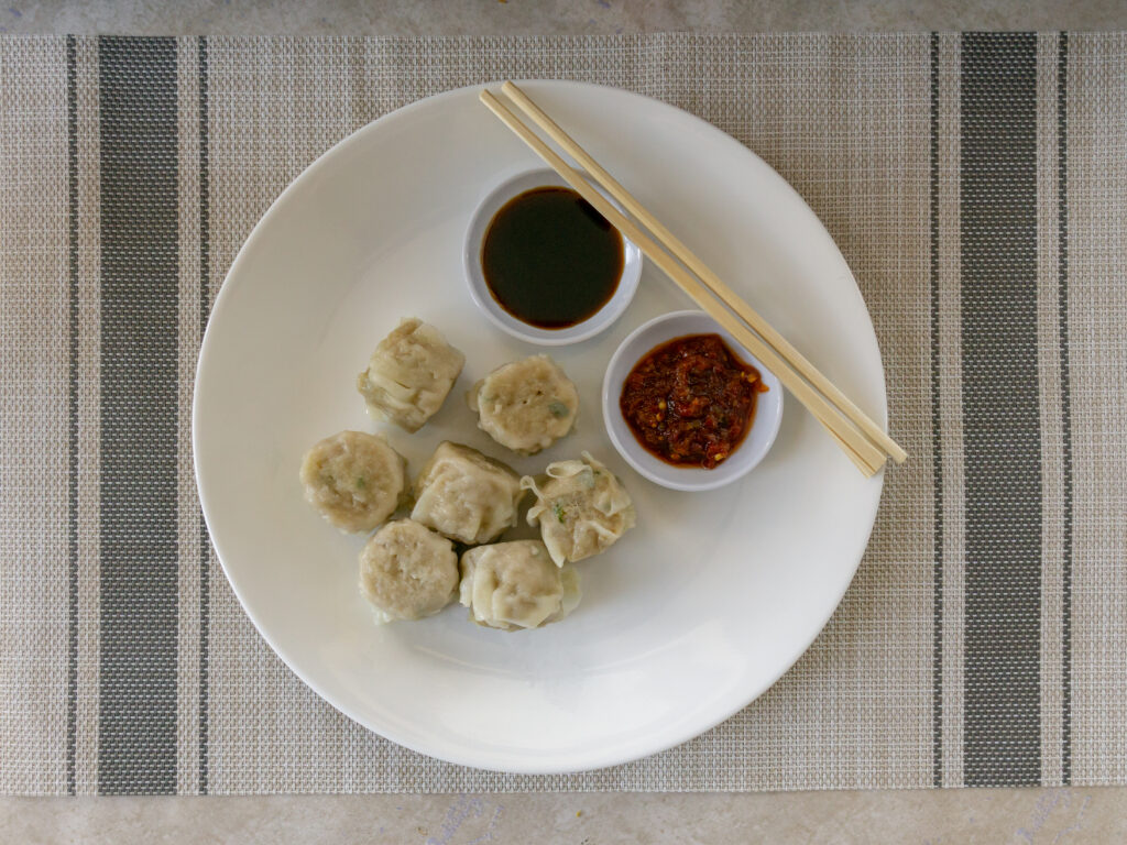 Trader Joe's Pork Shu Mai - cooked close up