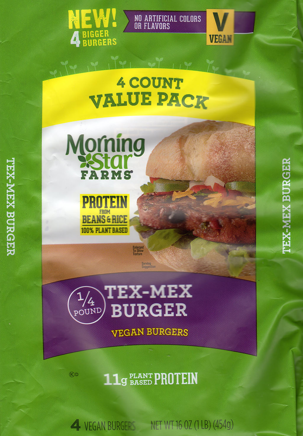 MorningStar Farms Tex Mex Burger packging front