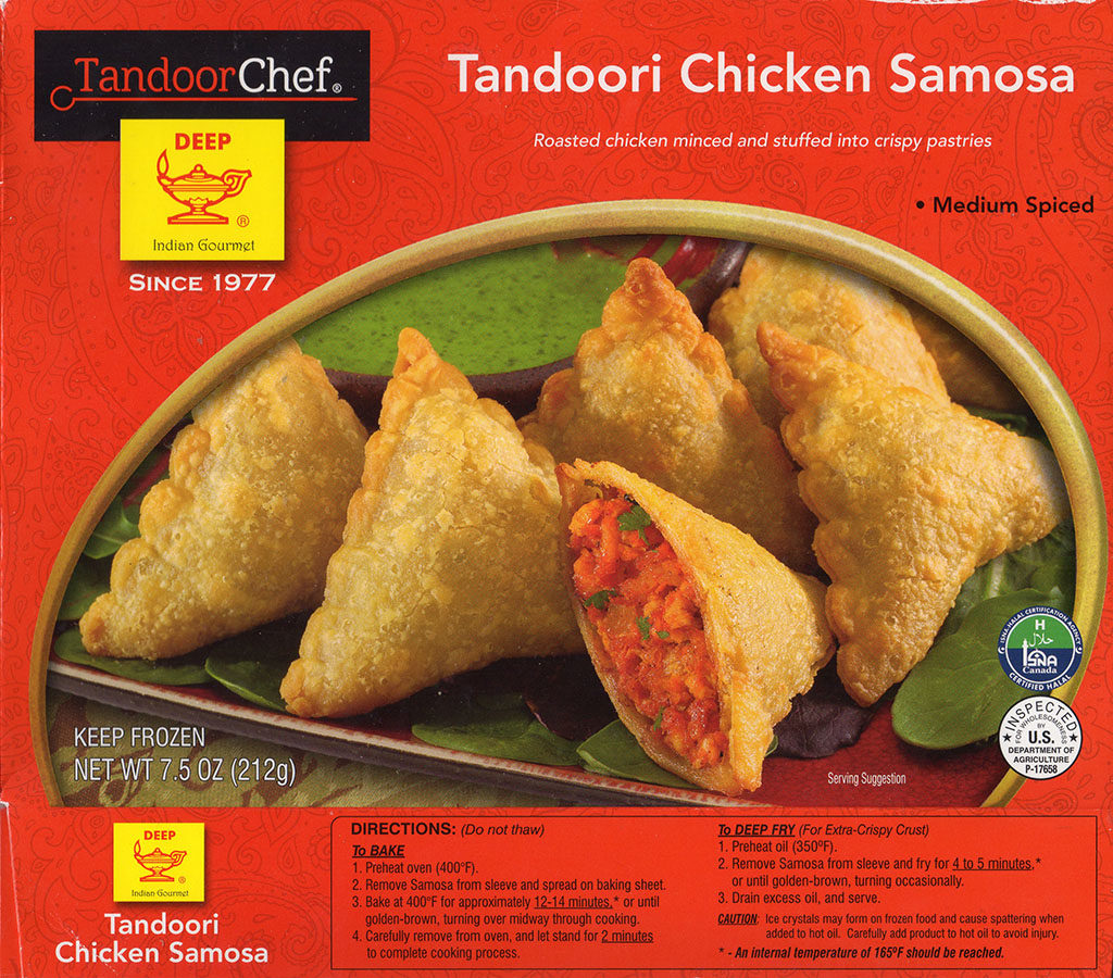 Tandoor Chef Tandoori Chicken Samosa cooking instructions