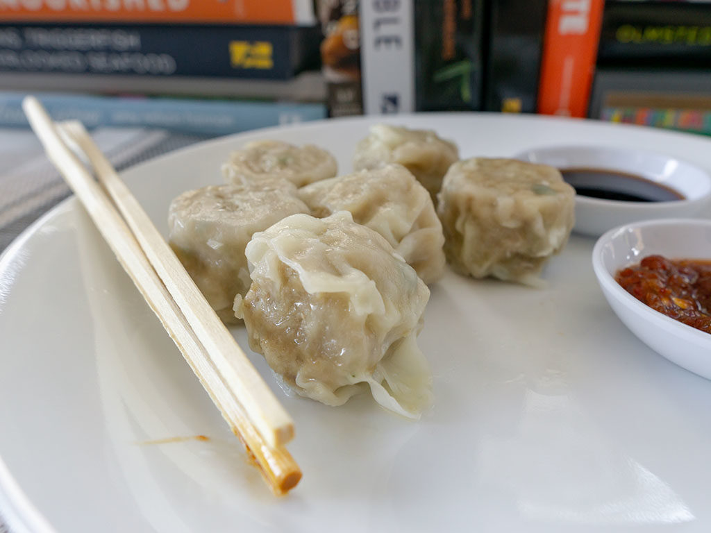 Trader Joe's Pork Shu Mai - cooked close up