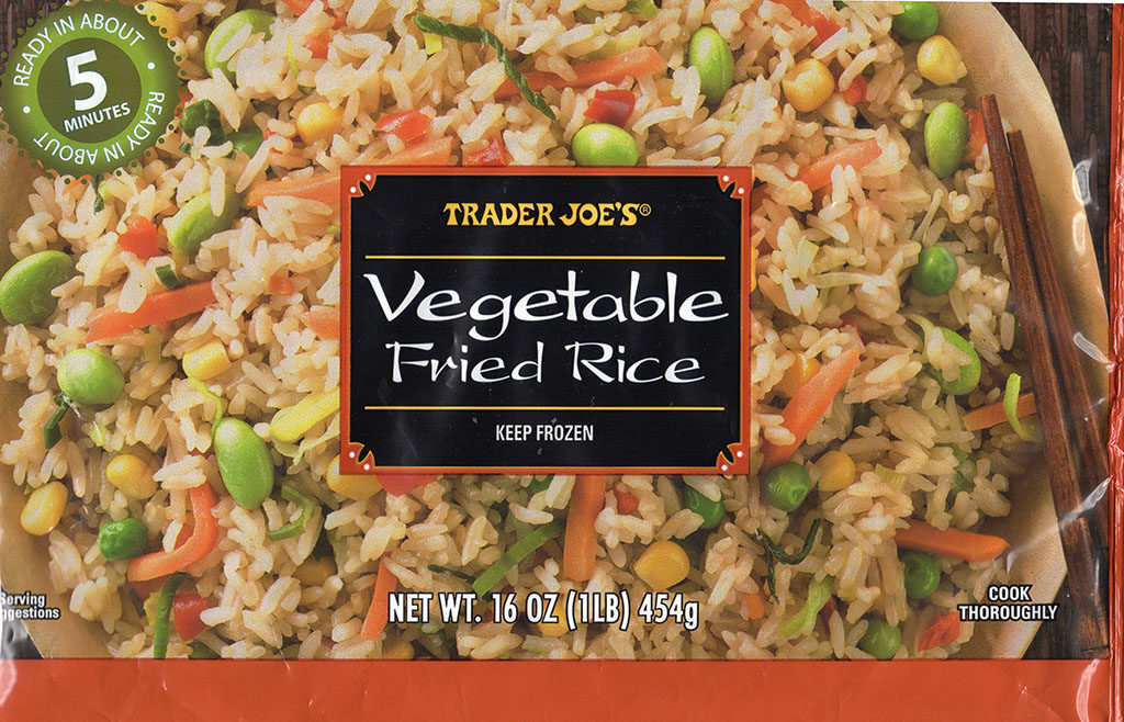 Trader Joe's Vegetable Fried Rice package front