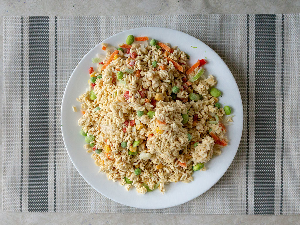 Trader Joe's Vegetable Fried Rice whats in the bag
