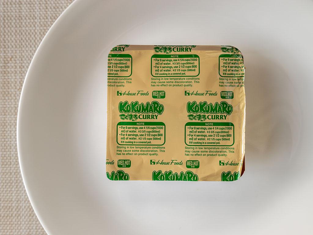 House Foods Kokomaru Curry suggested water