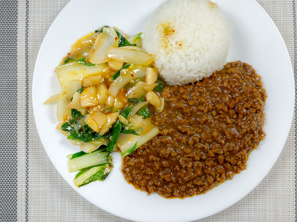 House Foods Kokomaru Curry with Gardein The Ultimate Beefless Ground