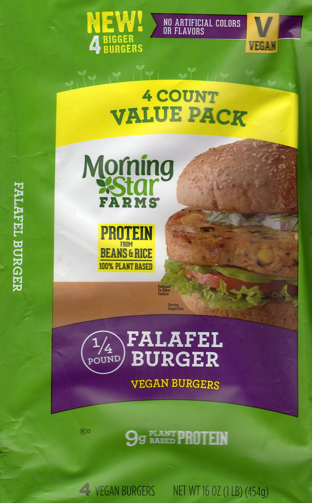 MorningStar Farms Falafel Burger paclakge front