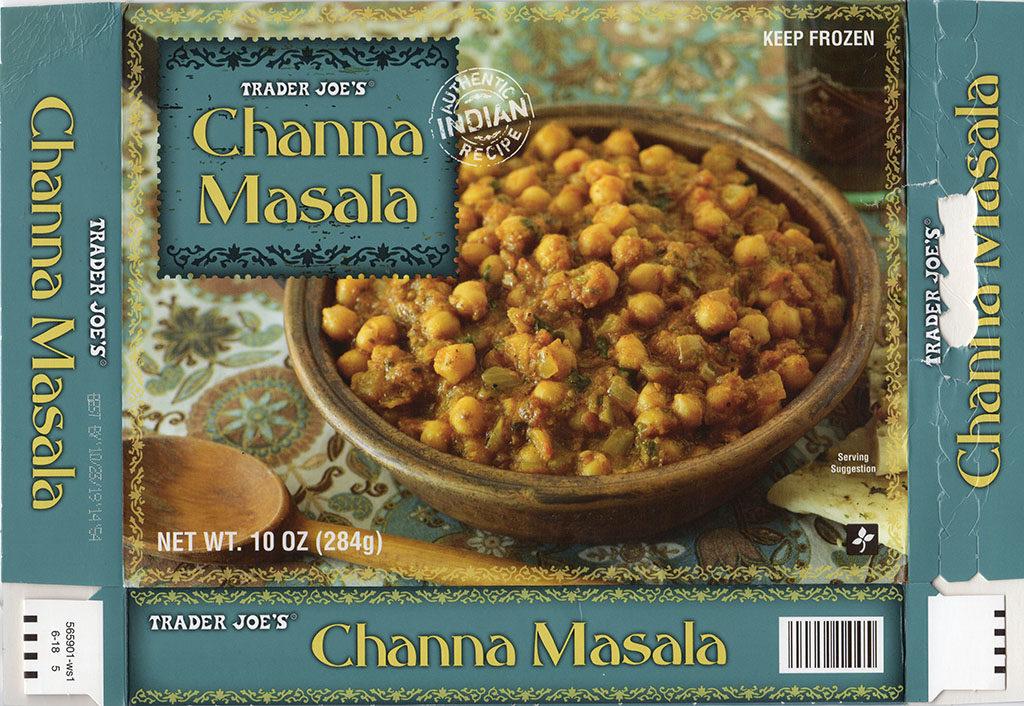 Trader Joe's Channa Masala package front