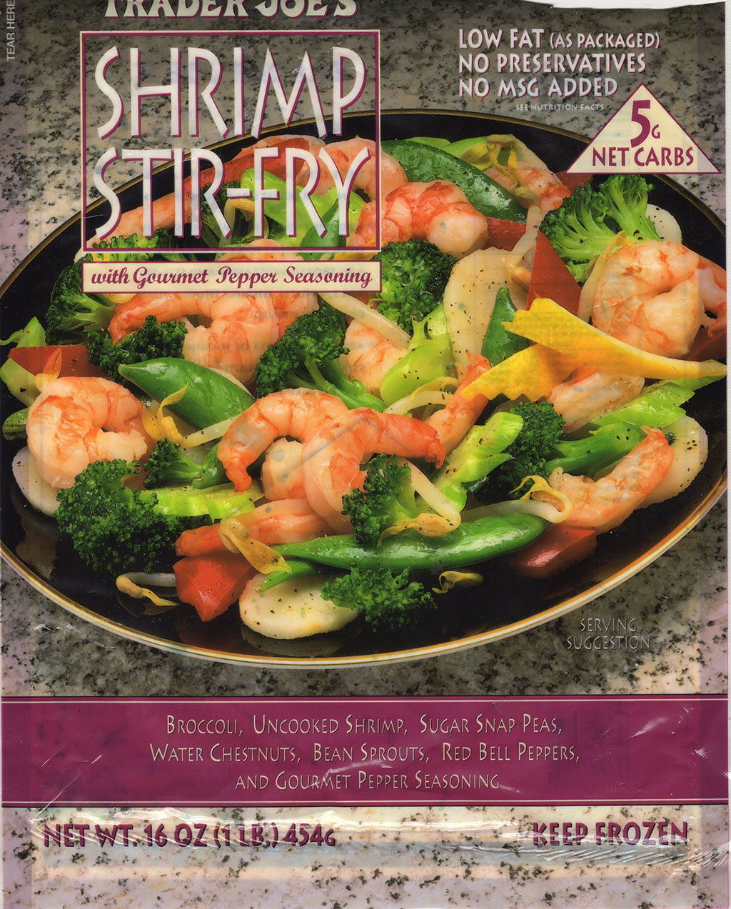 Trader Joe's Shrimp Stir Fry package front