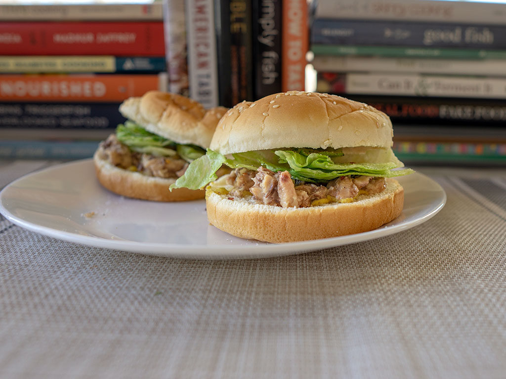 Crown Prince Skinless And Boneless Sardines sandwich