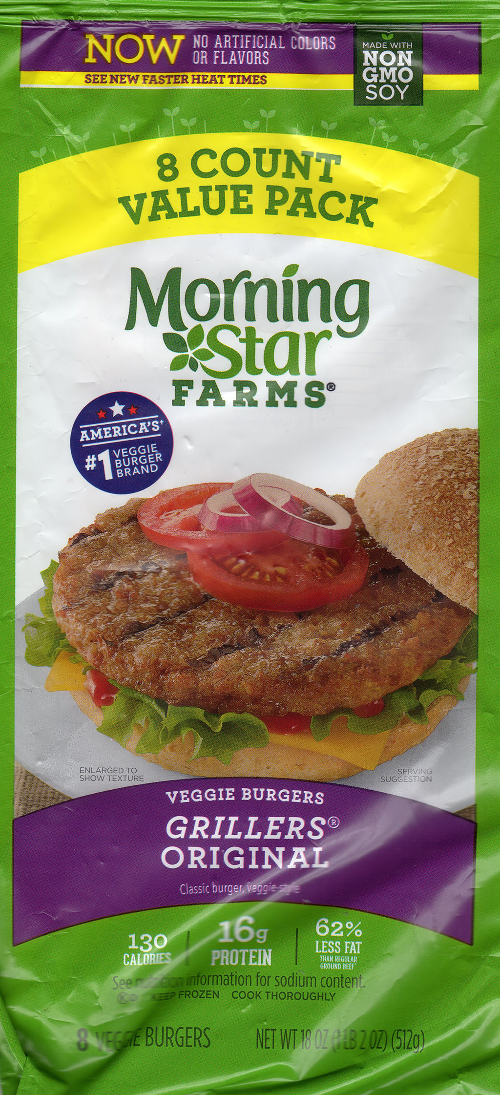 MorningStar Farms Grillers Original 2019 package front