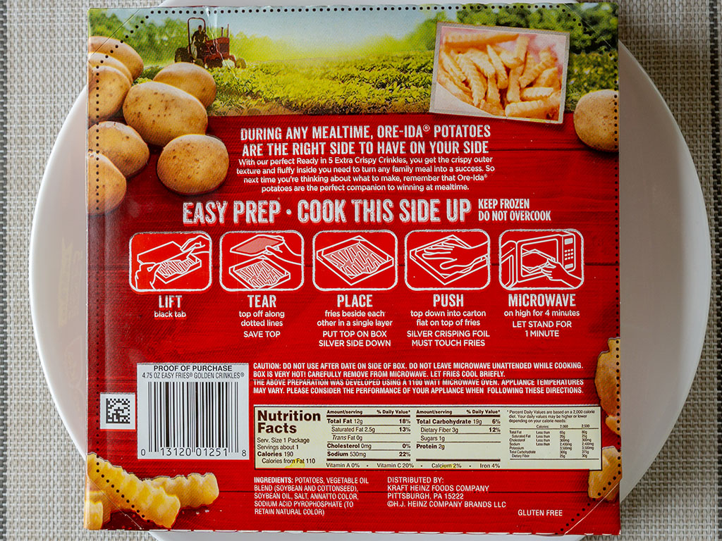 Ore-Ida Extra Crispy Crinkle French Fries cooking instructions