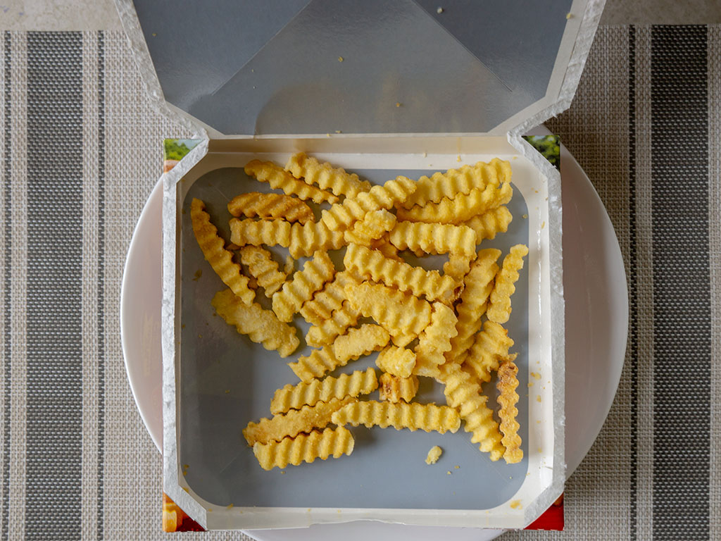 Ore-Ida Extra Crispy Crinkle French Fries crisping box