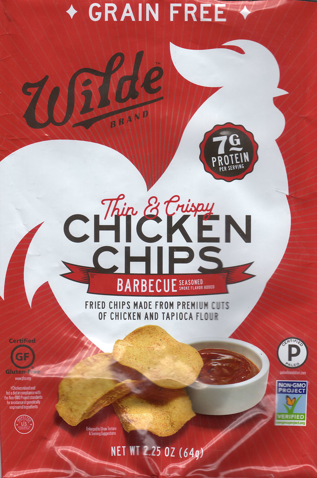 Wilde Brand BBQ Chicken Chips package front