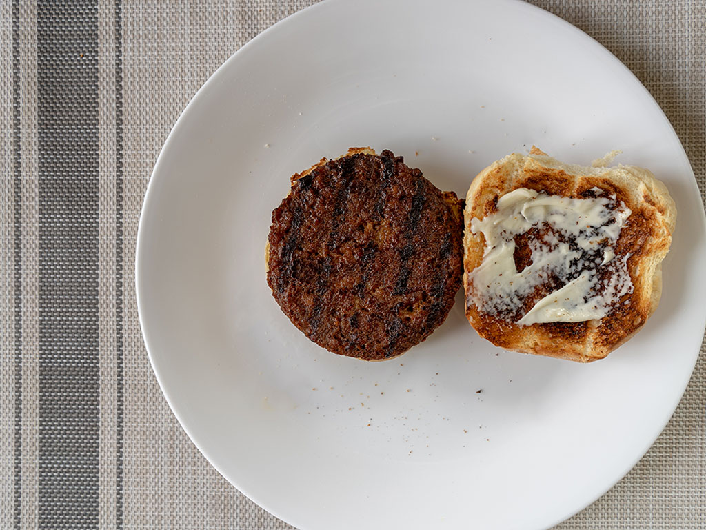 365 Plant Based Smoky And Spicy Burgers cooked