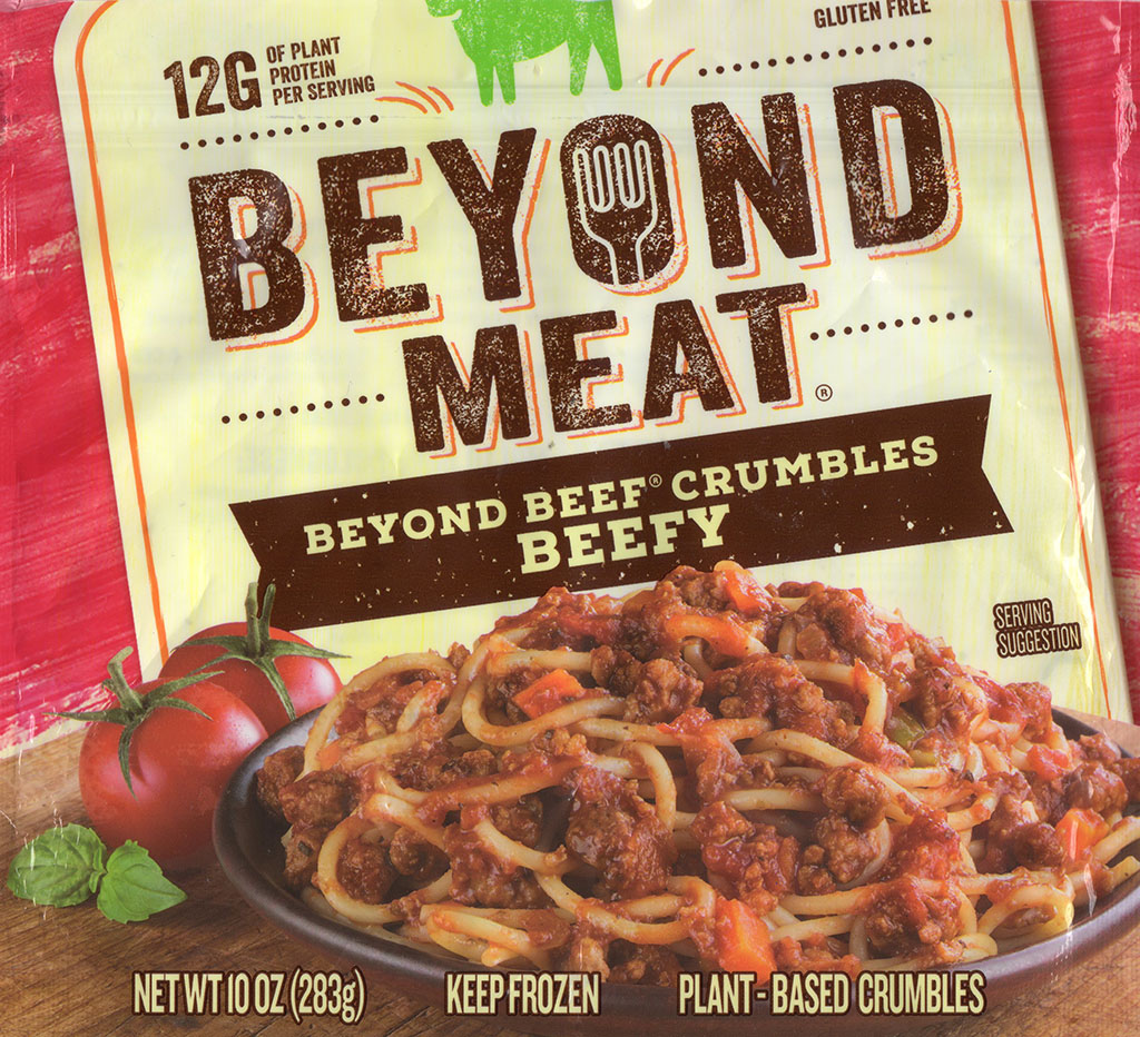 Beyond Meat Beef Crumbles package front