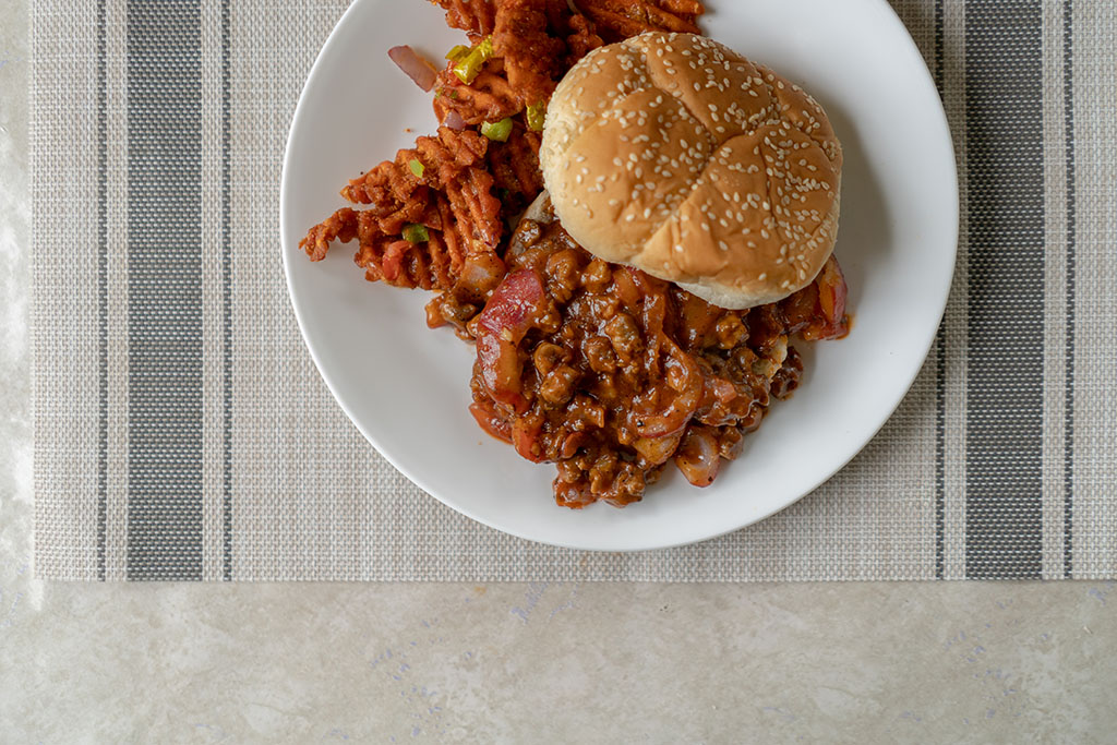 Beyond Meat Beef Crumbles sloppy joe two