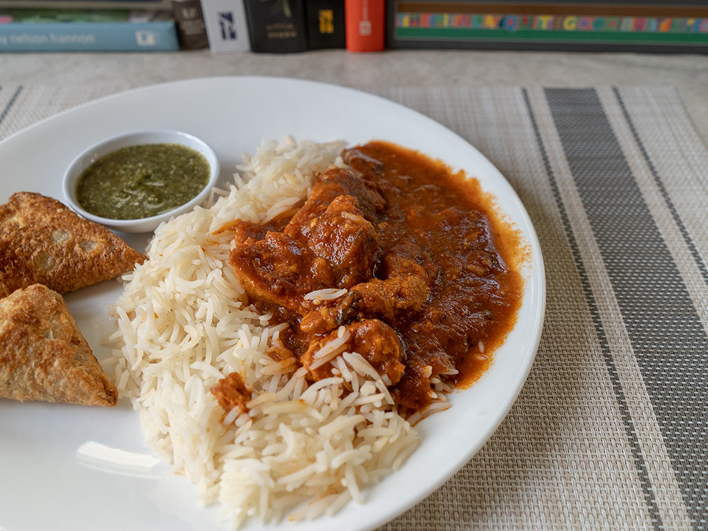 Chef Bombay Chicken Tikka Masala cooked side view