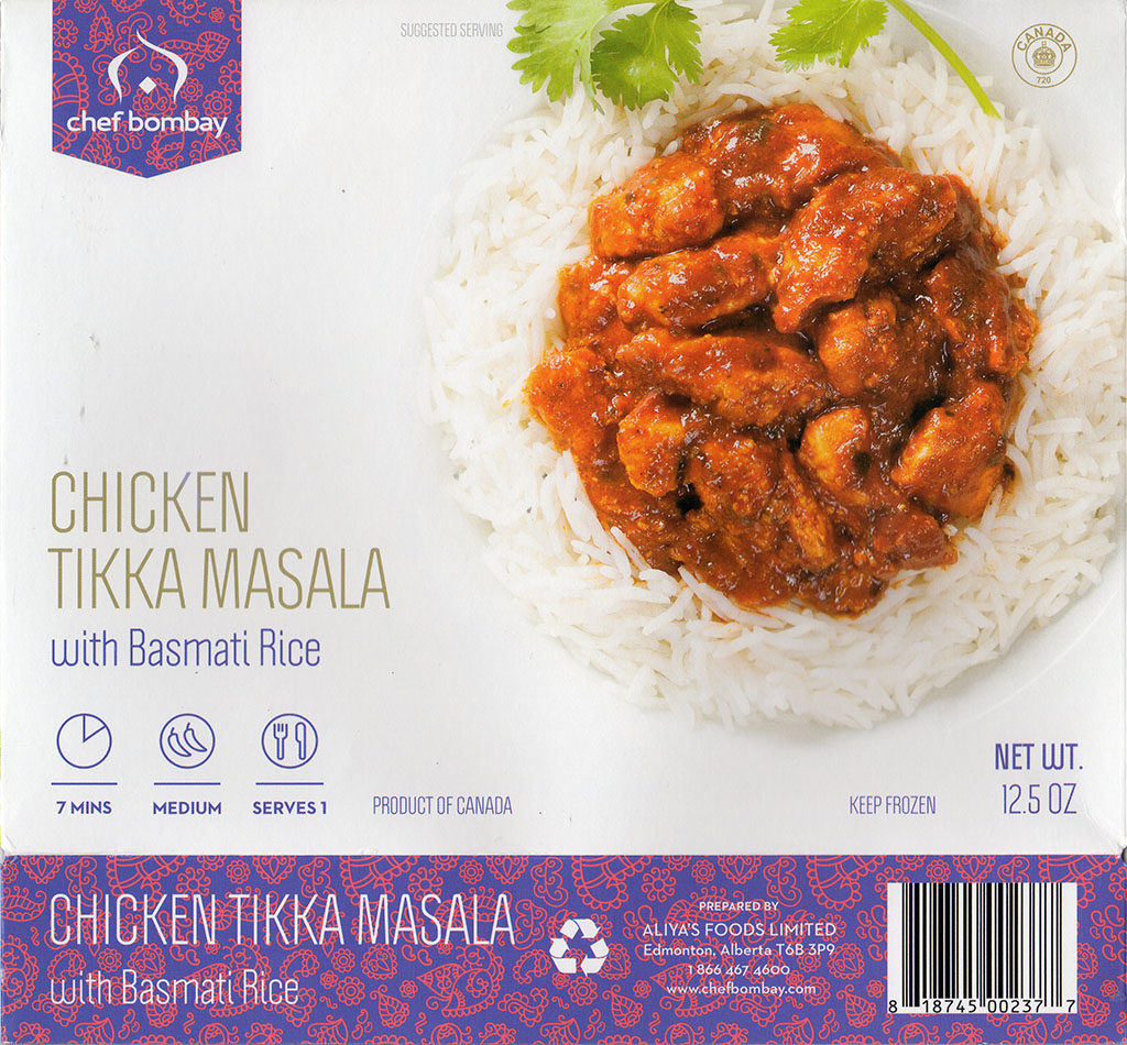 Chef Bombay Chicken Tikka Masala package front