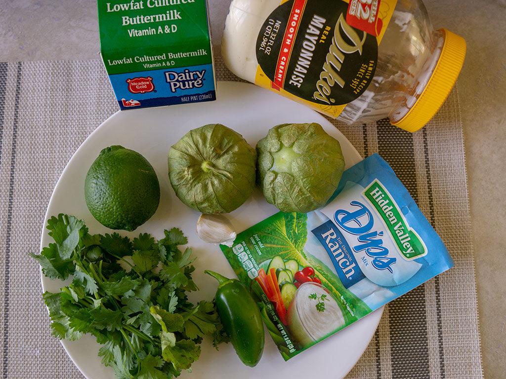 Cilantro Tomatillo Ranch dressing ingredients