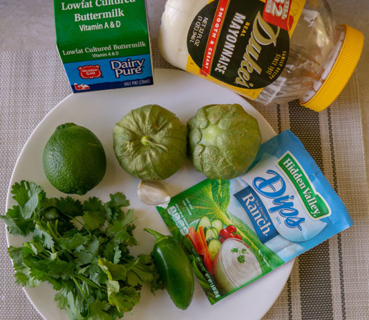 Cilantro Tomatillo Ranch dressing ingredients