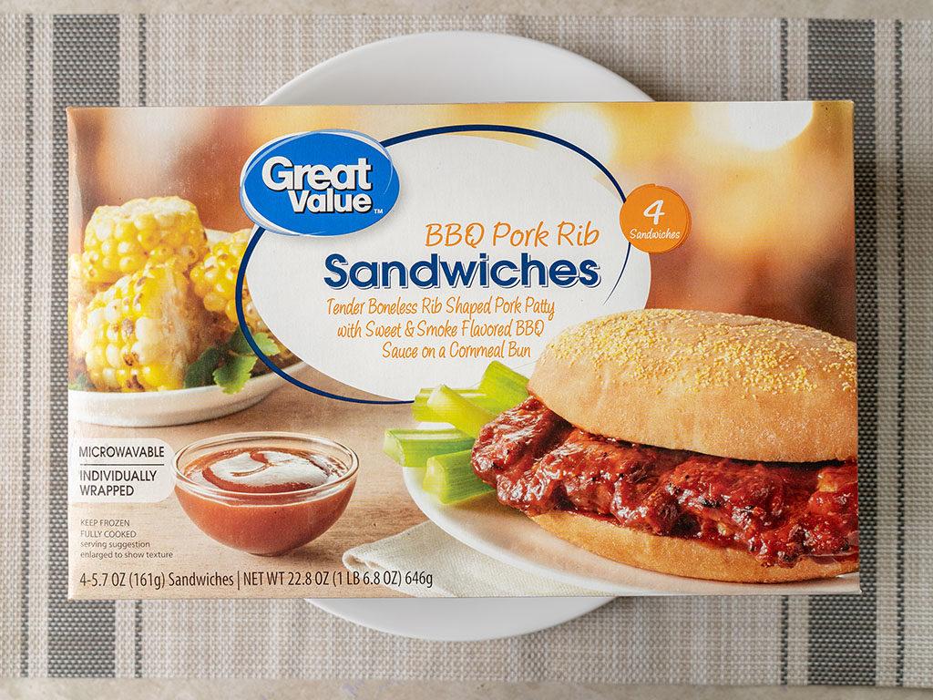Great Value BBQ Pork Rib Sandwiches