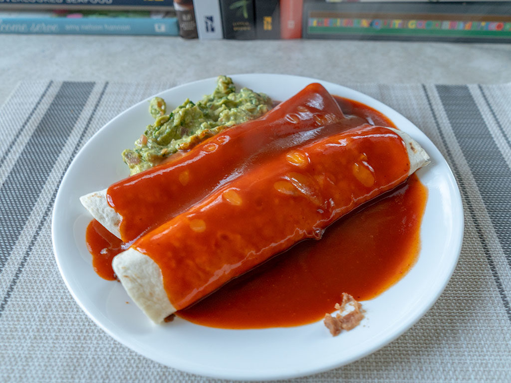 Rosarita Enchilada Sauce covered enchiladas