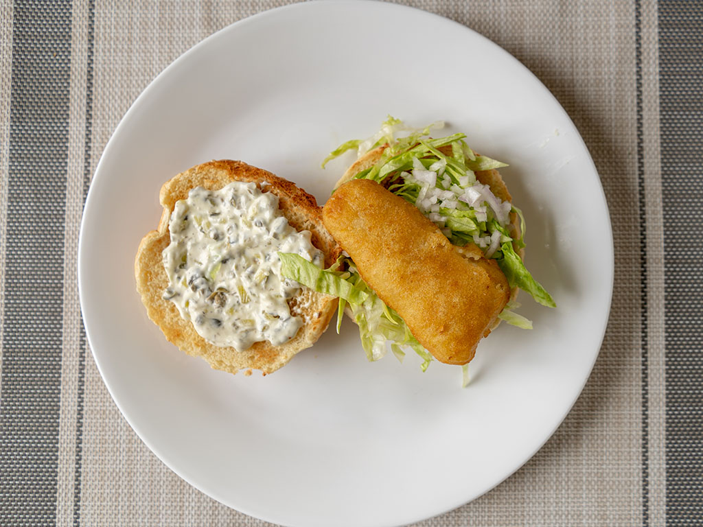 Van de Kamp's Crispy Fish Fillets fish sandwich top down