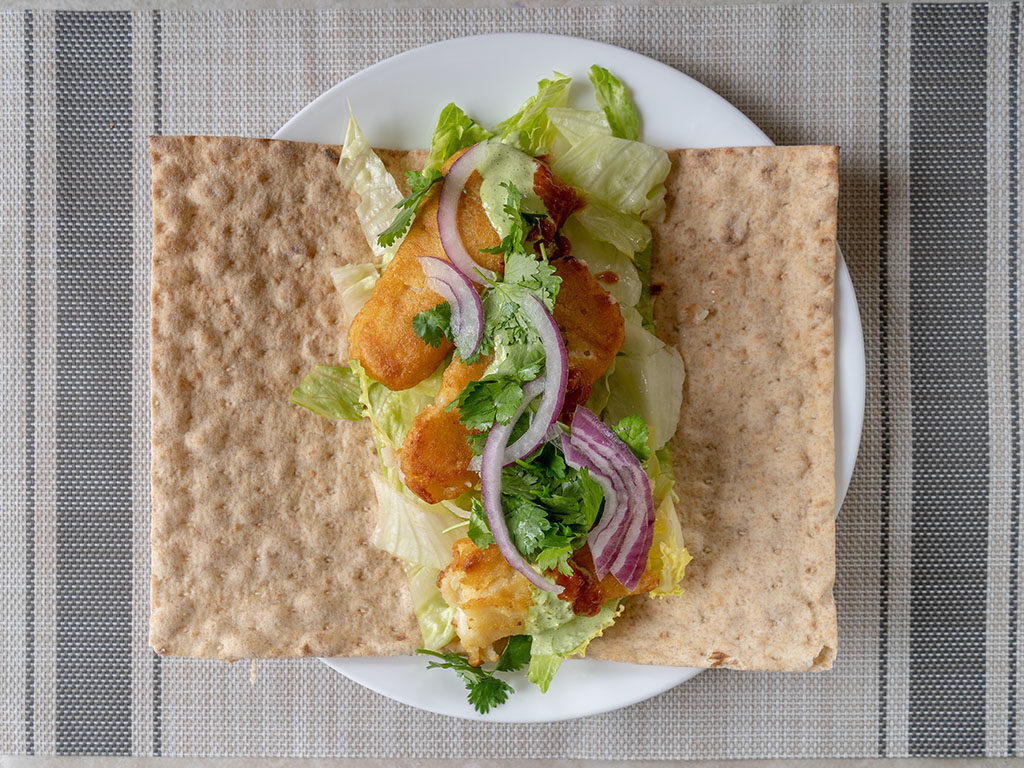 Van de Kamp's Crispy Fish Fillets in lavash