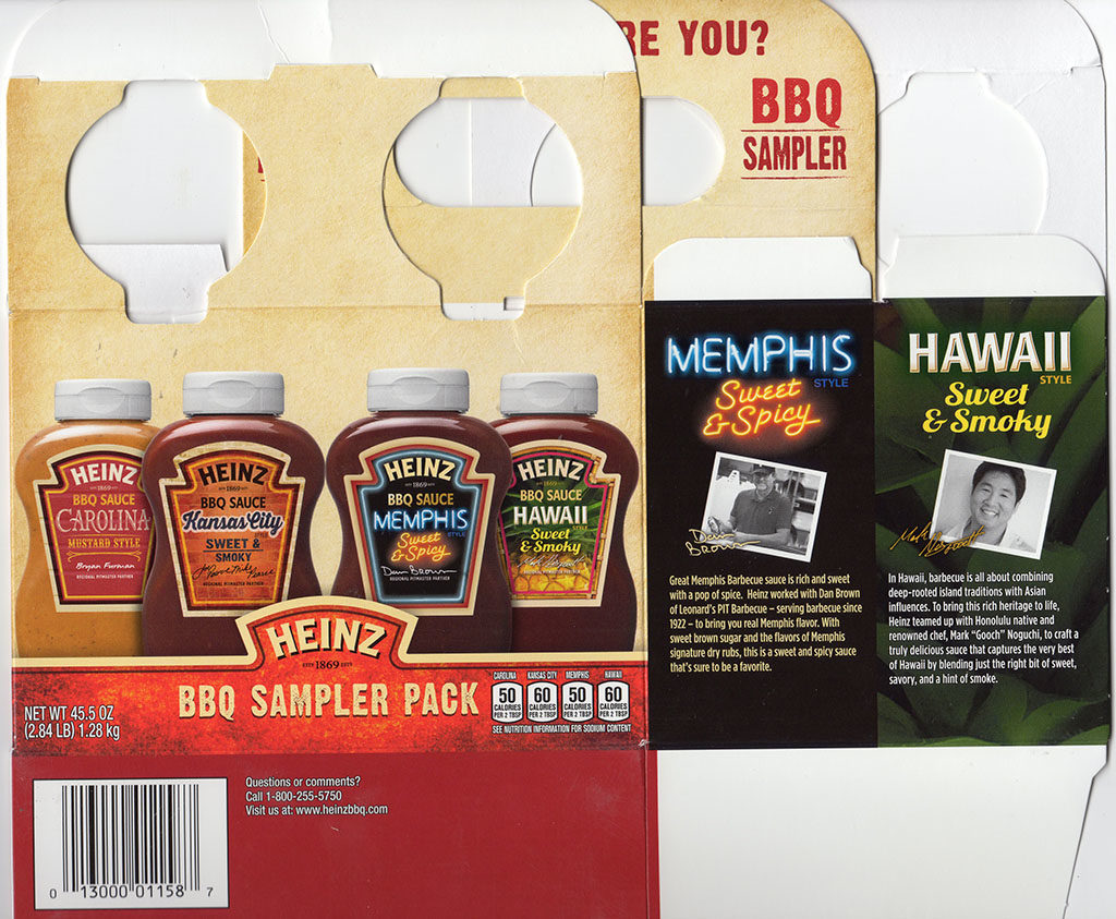 Heinz BBQ Sampler Pack package front