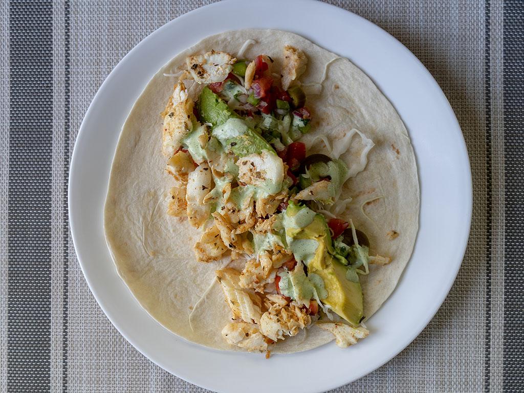 Sam's Choice Wild Caught Alaskan Halibut fish taco