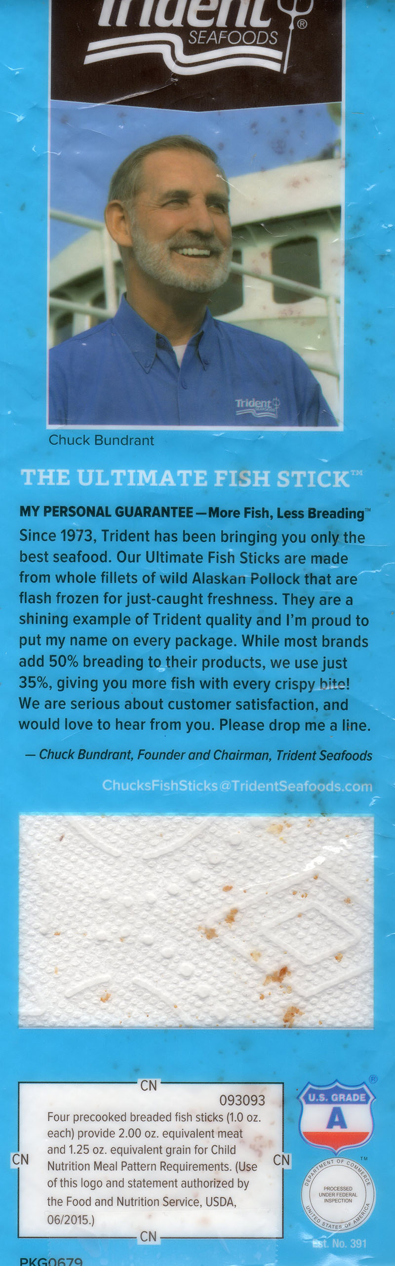 Trident The Ultimate Fish Stick rear packaging