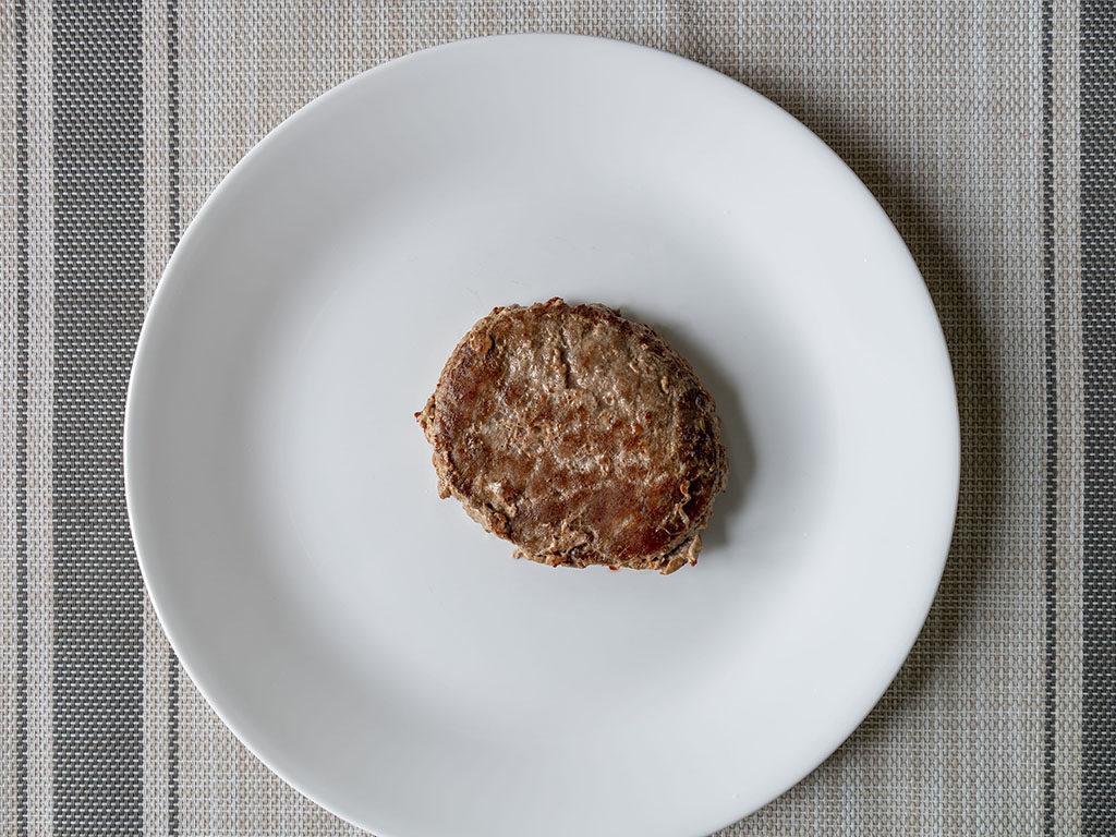 Diestel Turkey Burgers cooked in frying pan