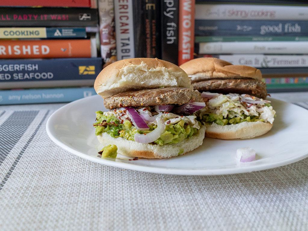 Diestel Turkey Burgers guacamole burger