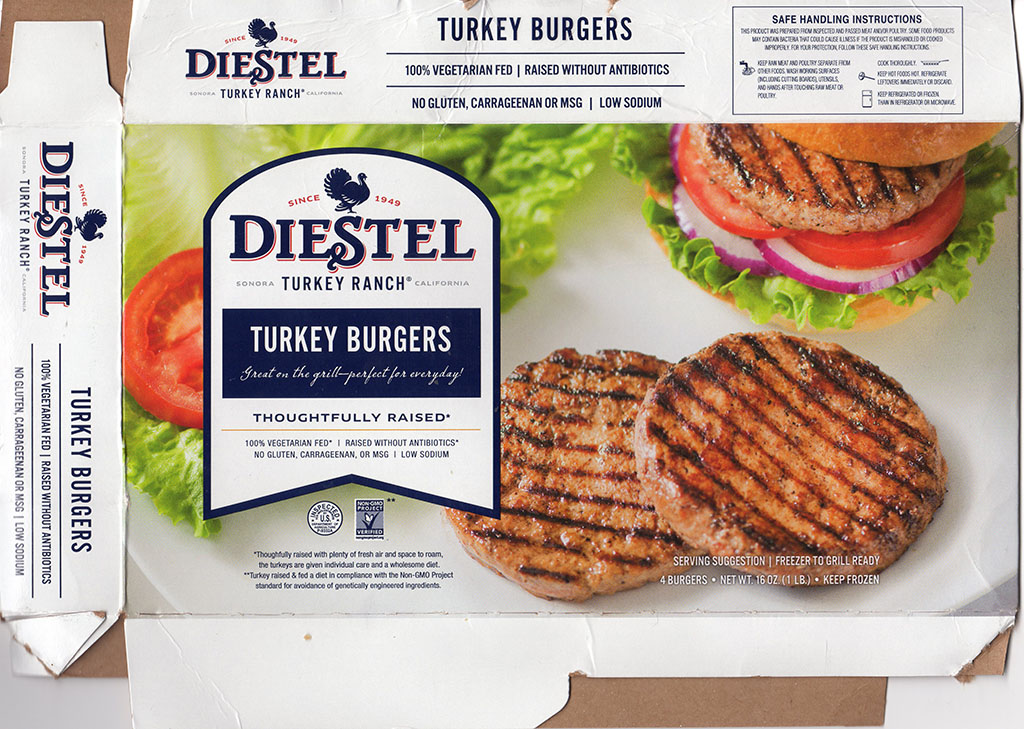 Diestel Turkey Burgers package front
