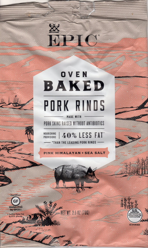 Epic Oven Baked Pork Rinds With Sea Salt package front