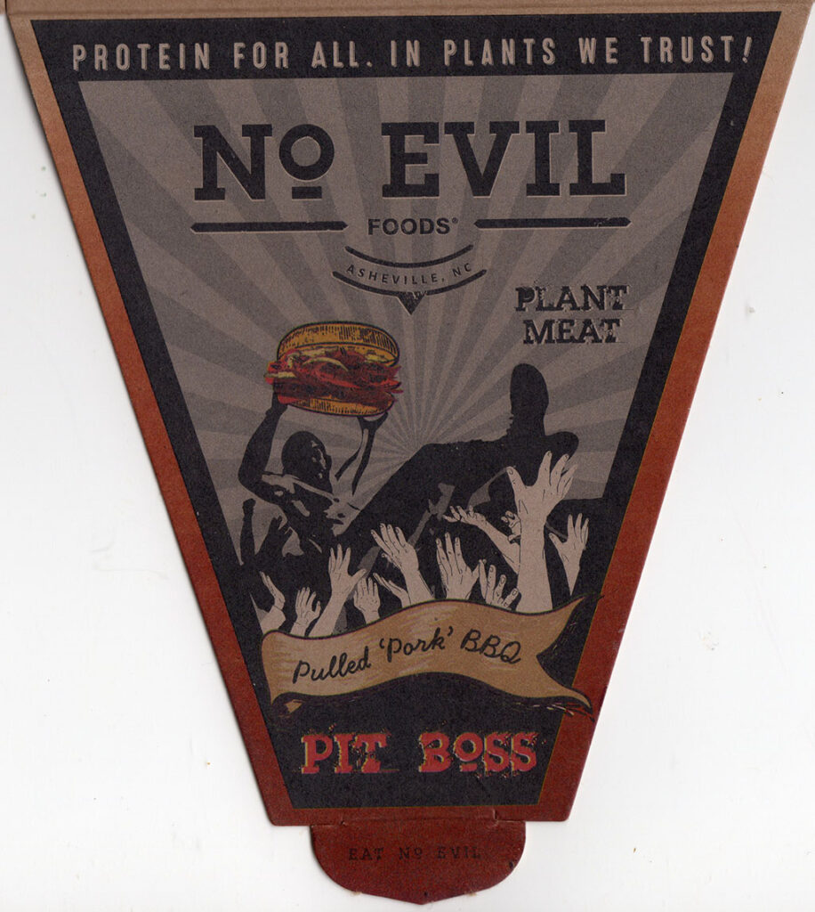 No Evil Foods Pulled Pork BBQ package front