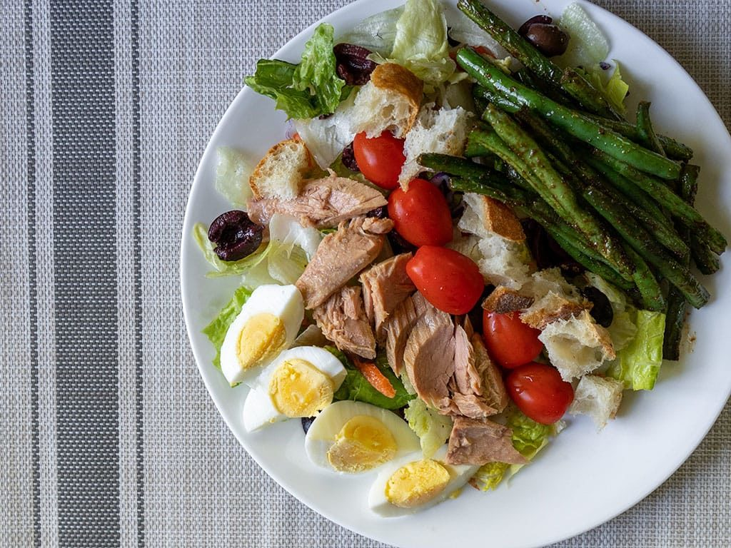 Tonnino Tuna Fillets In Olive Oil nicoise salad